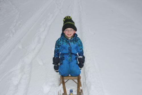 children winter sleigh ride