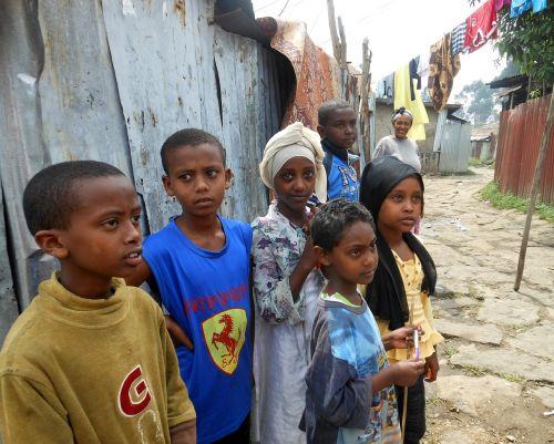 children ethiopia slum