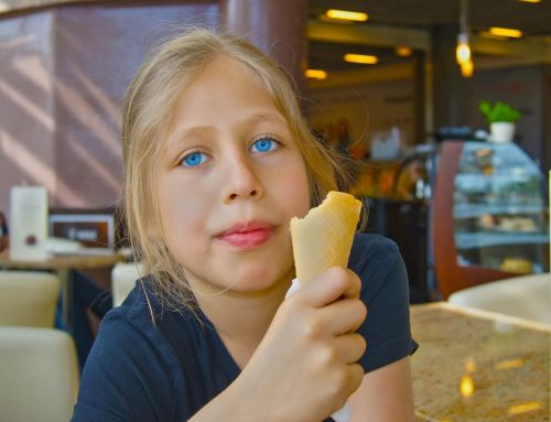 children portrait the little girl