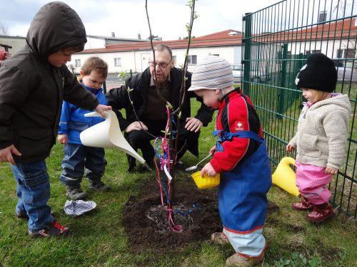 children gardener kindergarten