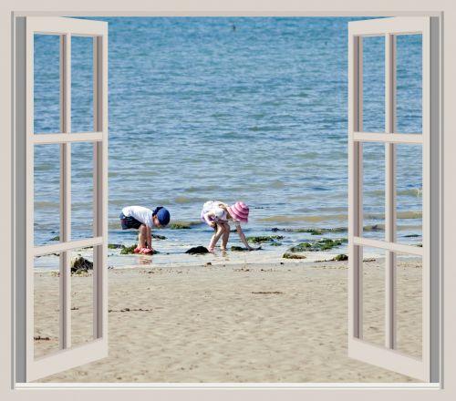 Children Beach Window View