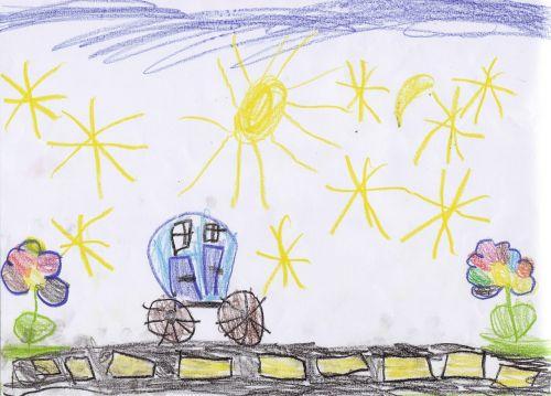 children drawing kindergarten drawing