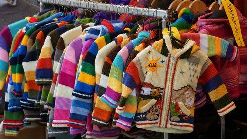children dresses  colored jackets  cardigans
