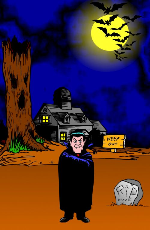 Children Fun Illustration Dracula