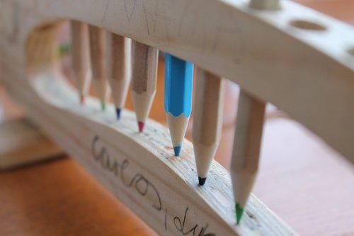 children's day  school enrollment  colored pencils