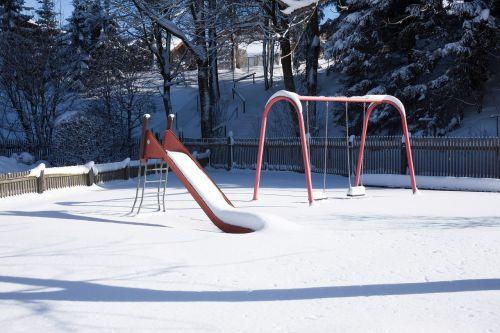 children's playground slide swing