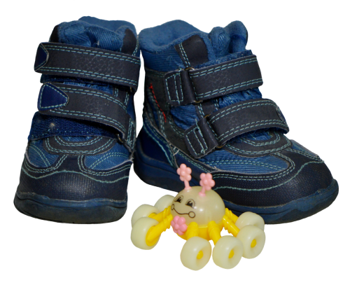 children's shoes blue small