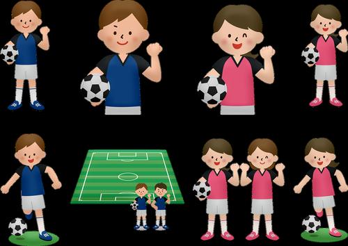 children's soccer  boy  girl