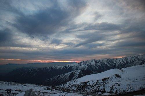 chile  snow  mountain
