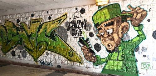 chill  mural  graffiti