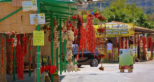 chilli peppers  garlic  shops