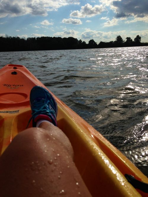 Chilling In A Kayak