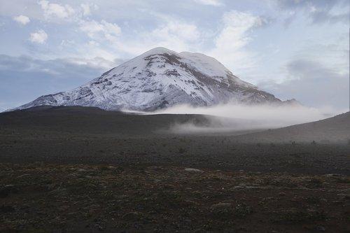 chimborazo  ecuador  volcano