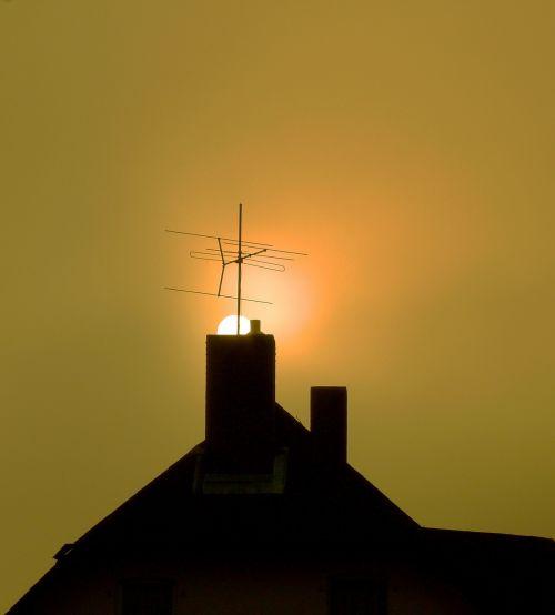 chimney roof sun