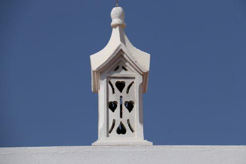 chimney algarve white blue