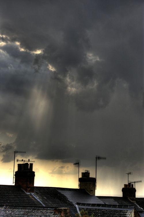 chimneys weather sky