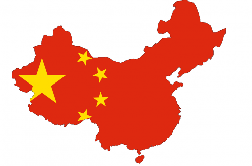 china flag map