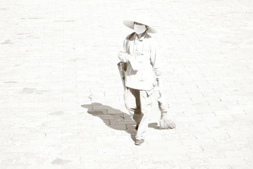 woman janitor china