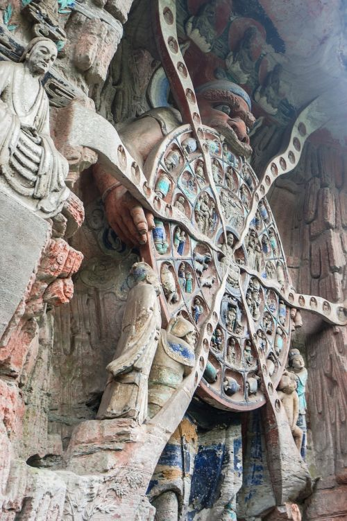 china cave temples to wheel of life