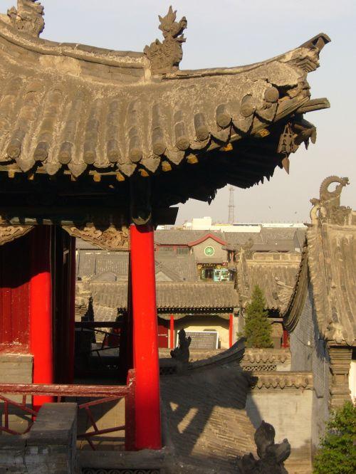 Kinija,namai,miestas,stogas,šventykla,hohhot