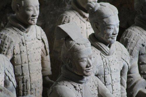 china  statues  warriors