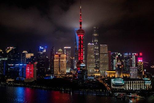 china  shanghai  towers