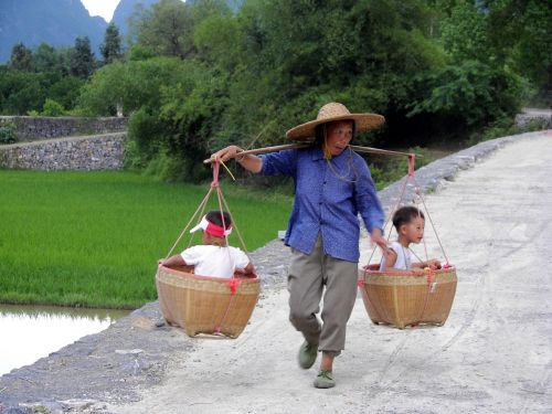 china woman carry