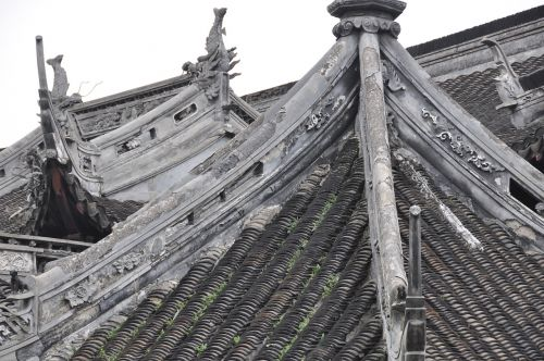 china old town roof