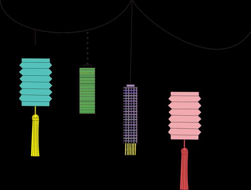 chinese  lanterns  decoration