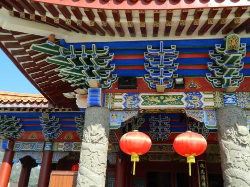 chinese ancient architecture temple eaves