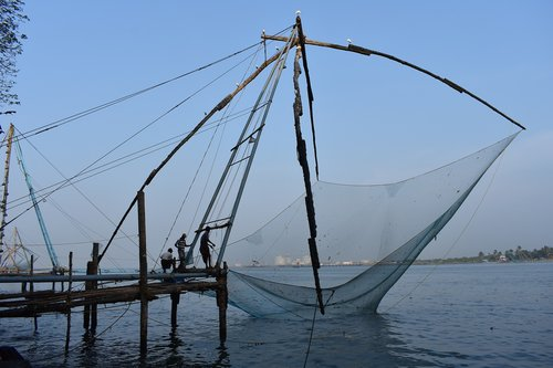 chinese fishing nets  kochi  cochin