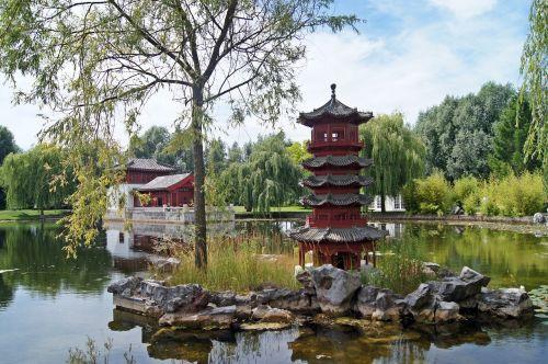 chinese garden pond water