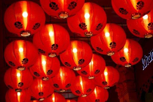 chinese lanterns  lights  light