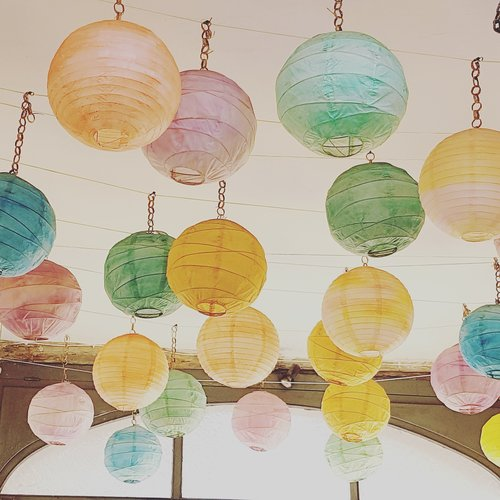 chinese lanterns  mood  lights