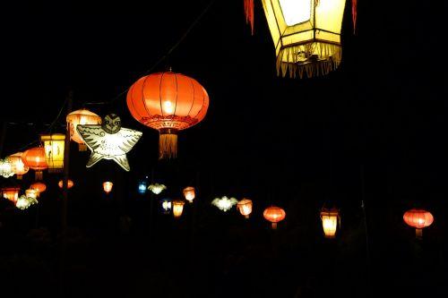 chinese lanterns night garland