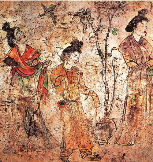 chinese mural dysnatie tang tomb li xian