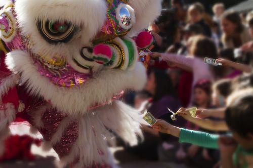 chinese new year dragon money