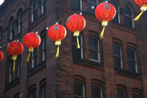 chinese new year chinese lanterns chinatown