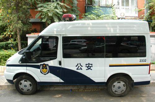 policija, iš, transporto priemonė, Kinija, Pekinas, Kinijos policija