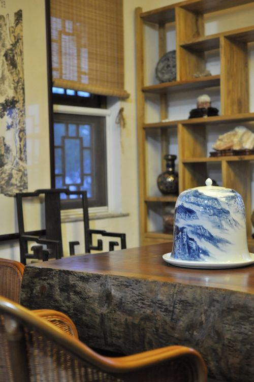 chinese style tea house indoor