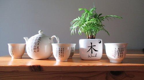 chinese tea set  tea pot  tea cups