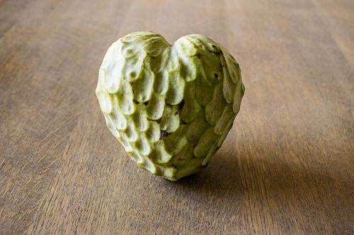 custard apple fruit heart