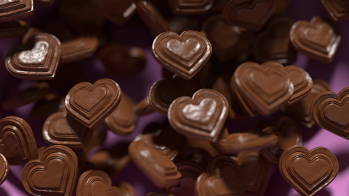 chocolate hearts yummy