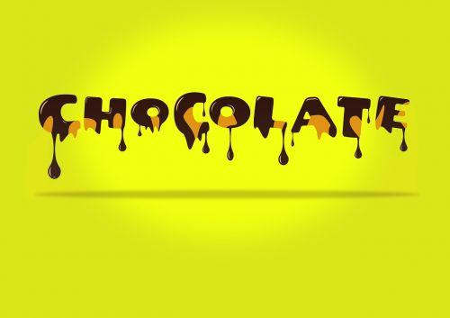 chocolate text candy