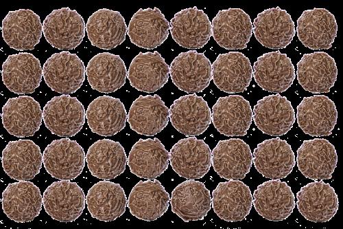 chocolate chocolate balls truffle