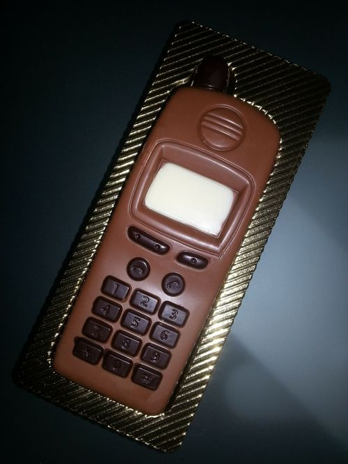 chocolate mobile phone candy