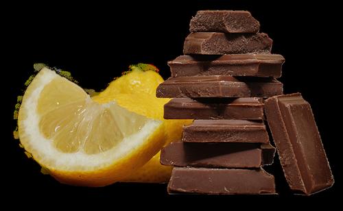 chocolate  lemon  isolated