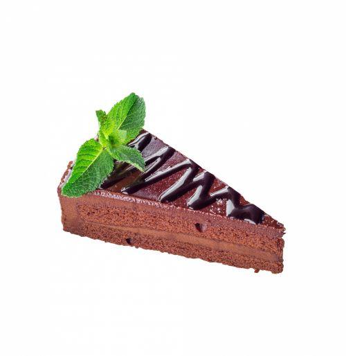 Chocolate Cake Isolated