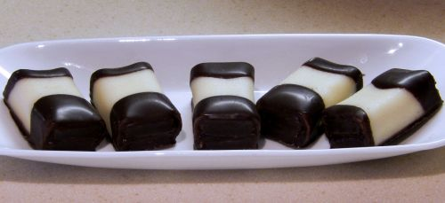 chocolate dipped cakes marzipan sweet