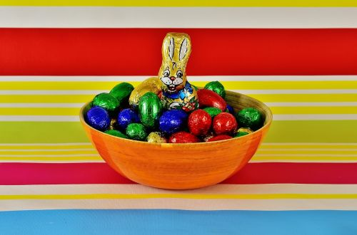 chocolate eggs easter happy easter